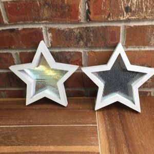 2 rustic star accent pieces